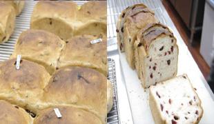 ベリーとナッツのチョコシート食パン
